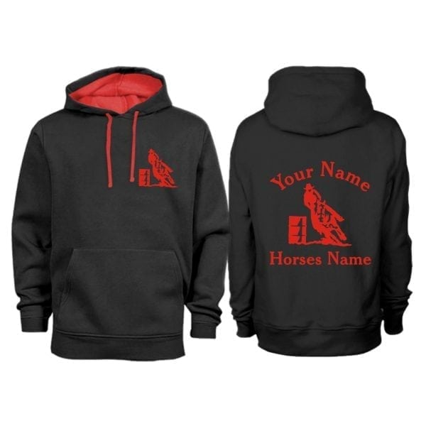 Personalised Adult Barrel Racing Hoodie