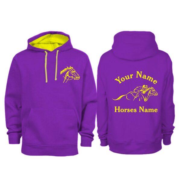 Personalised Adult Horse Racing Hoodie