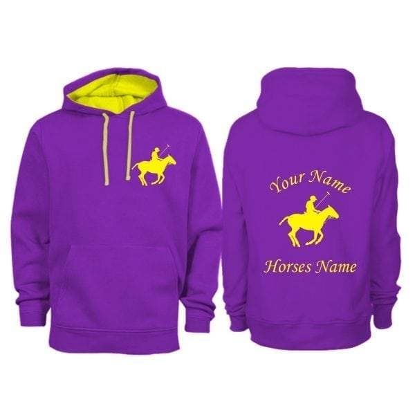 Personalised Adult Polo Horse Hoodie