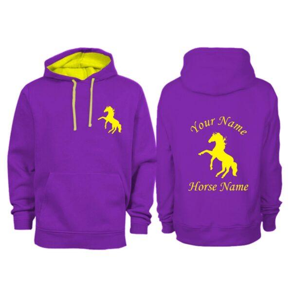 Personalised Adult Horse Hoodie