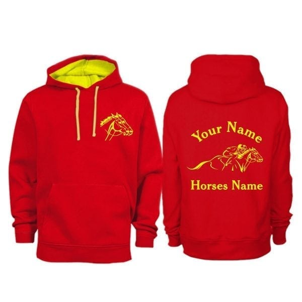 Personalised Adult Horse Racing Hoodie