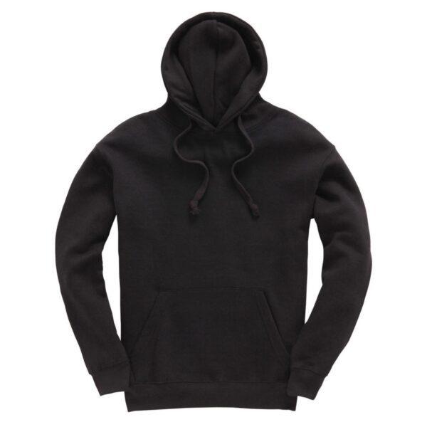 Black Plain Adult Hoodie