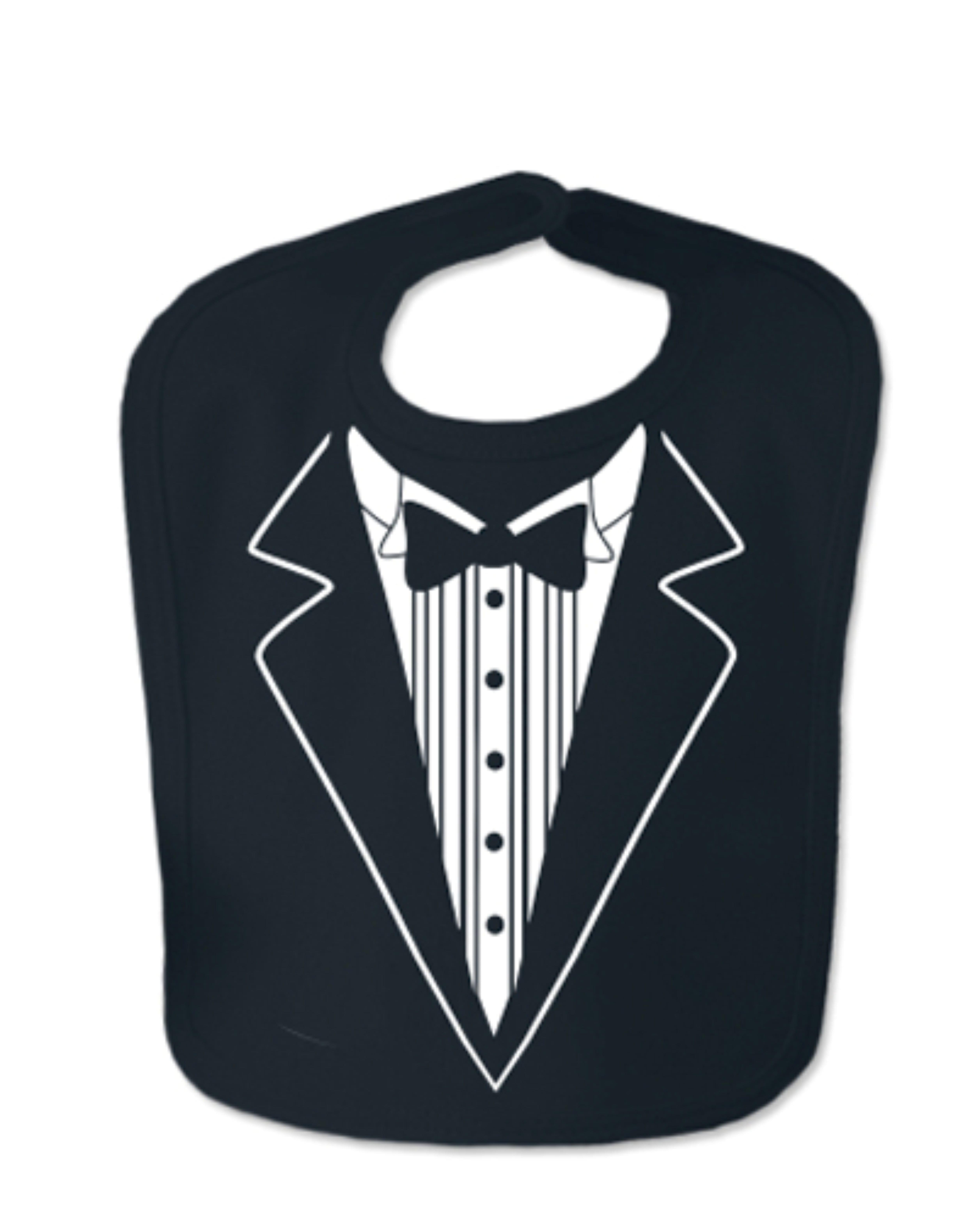 Black Tuxedo Velcro Baby Bib