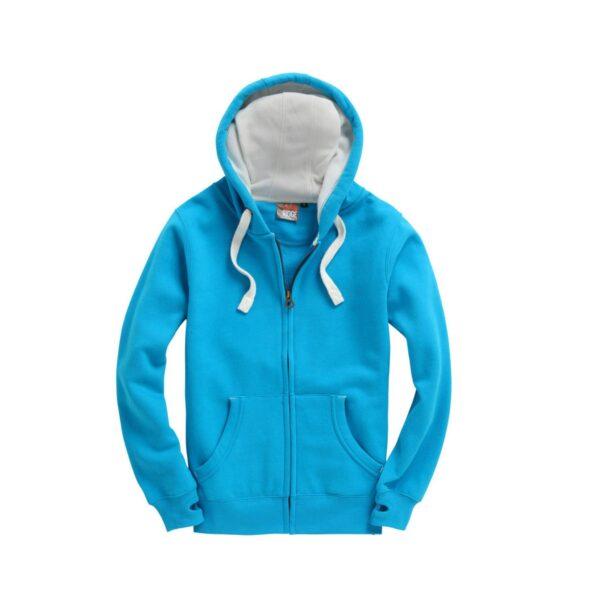 Malibu Blue Ultra Premium Zip Hoodie