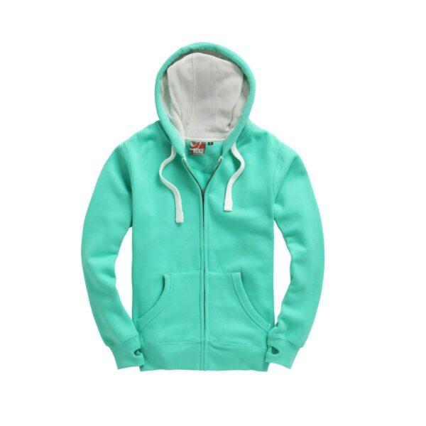 Gumdrop Green Ultra Premium Zip Hoodie