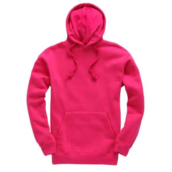 Hot Pink Plain Adult Hoodie