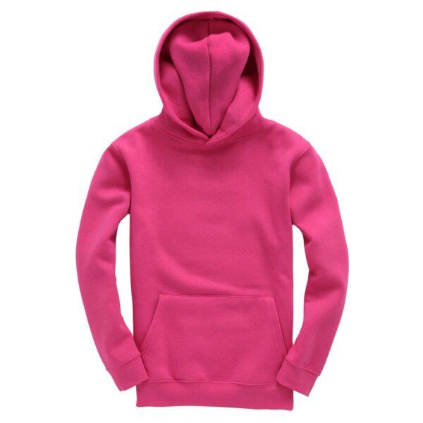 Hot Pink Kids Plain Hoodie