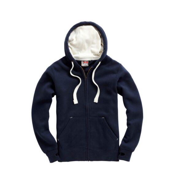 French Navy Ultra Premium Zip Hoodie