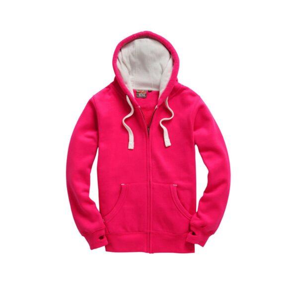 Honeysuckle Pink Ultra Premium Zip Hoodie