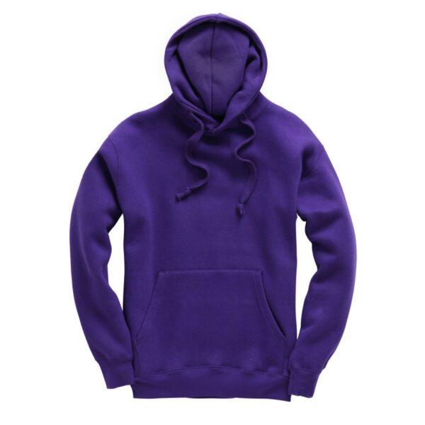 Purple Plain Adult Hoodie