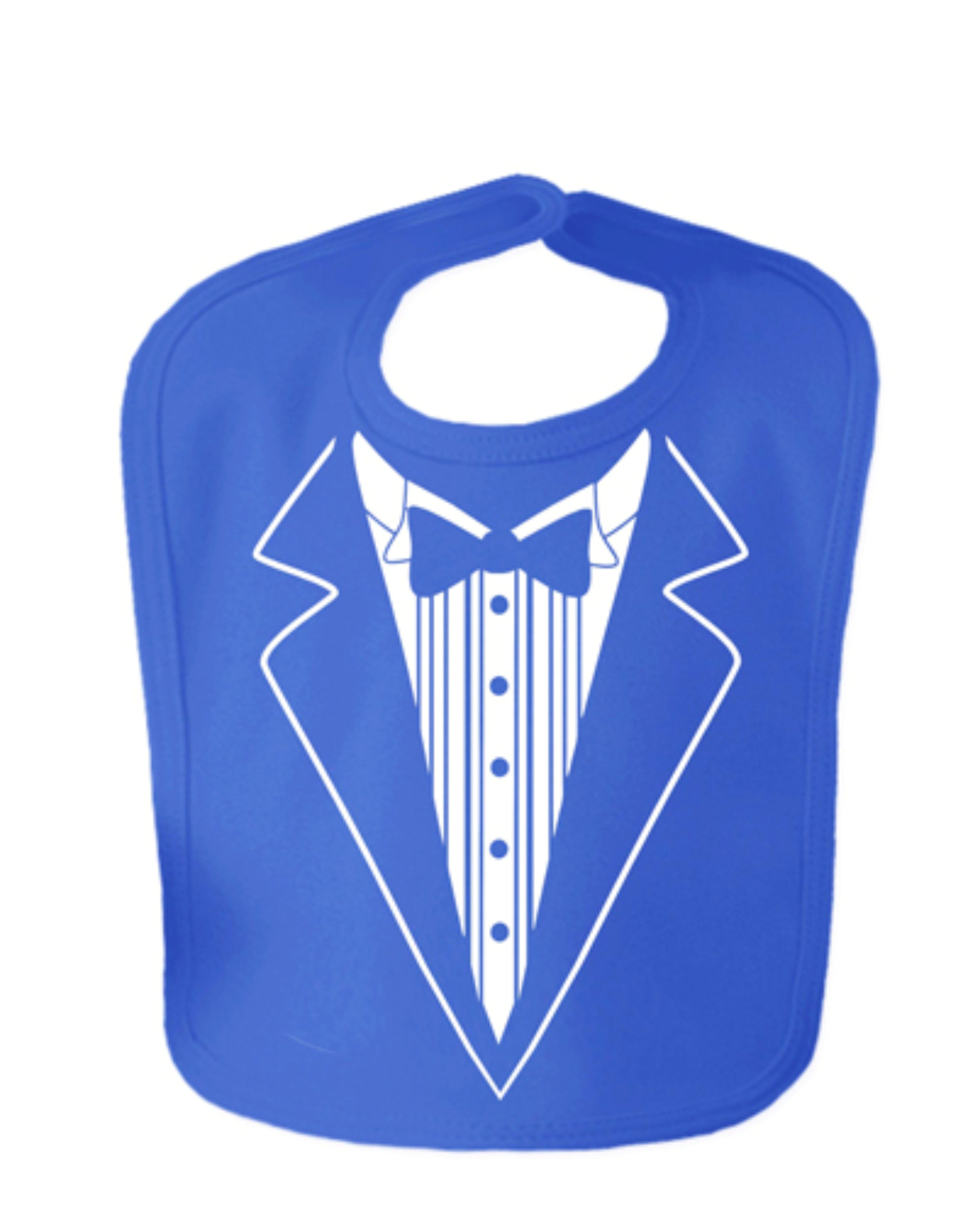 Royal Blue Tuxedo Velcro Baby Bib