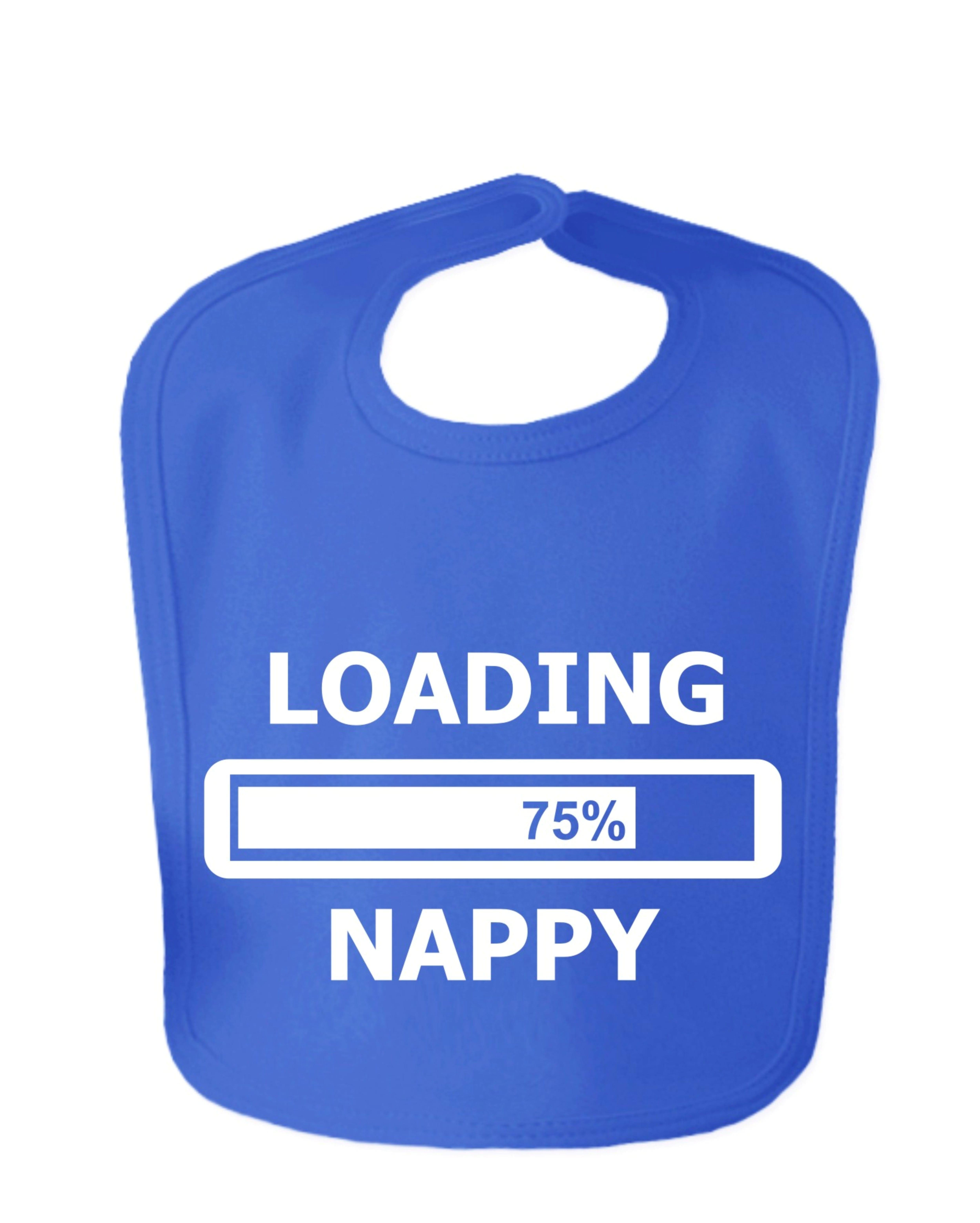 Royal Blue Loading Nappy Velcro Bib