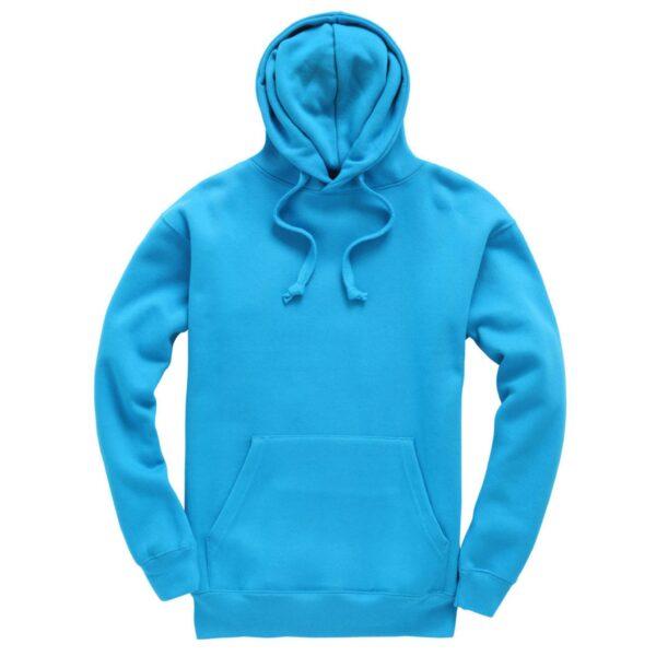 Sapphire Blue Plain Adult Hoodie