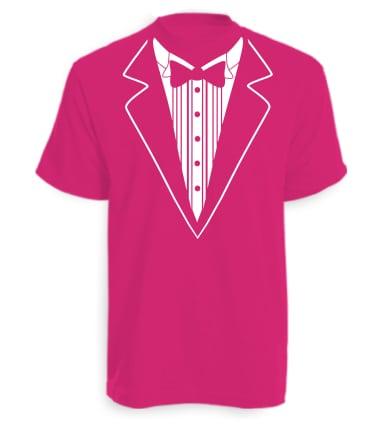Hot Pink Tuxedo T-shirt