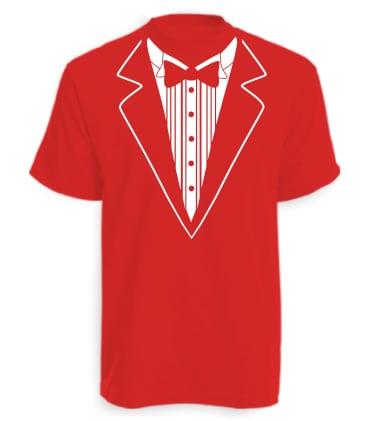 Red Tuxedo T-shirt