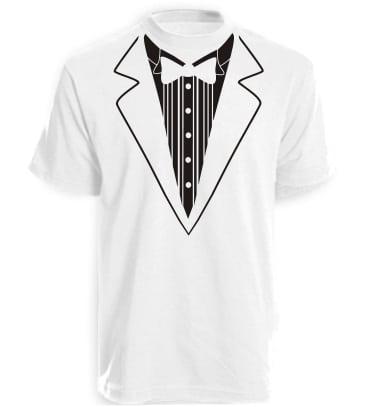 White Tuxedo T-shirt