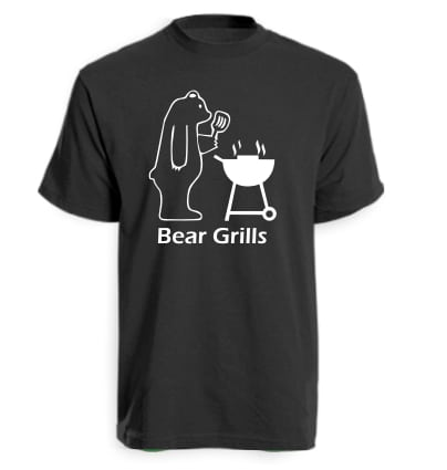 Black Bear Grills Funny T-Shirt
