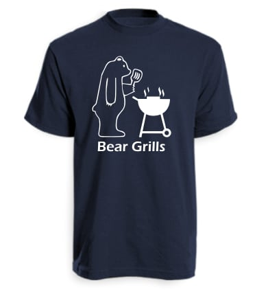 Navy Bear Grills Funny T-Shirt
