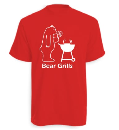 Red Bear Grills Funny T-Shirt