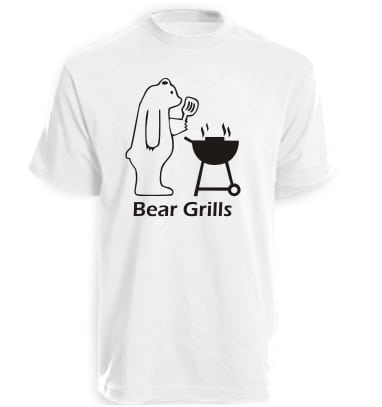White Bear Grills Funny T-Shirt