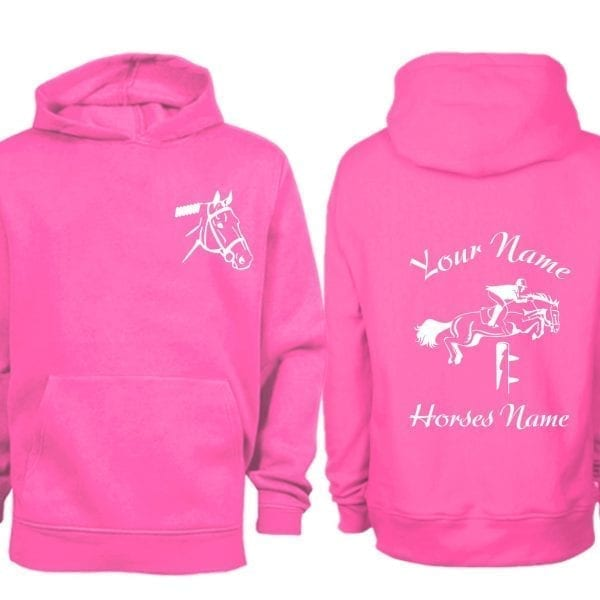 Hot Pink Show JUmping Hoodie