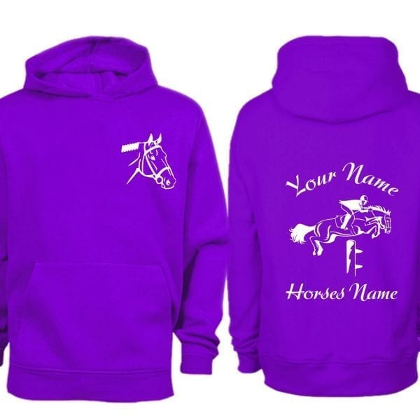Purple Show Jumping Hoodie